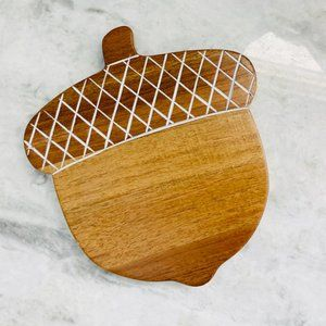 Vintage Acorn Wooden Cutting Cheese Board Serving